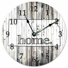 "KANSAS RUSTIC HOME STATE CLOCK - Large 10.5"" Wall Clock - 2225"