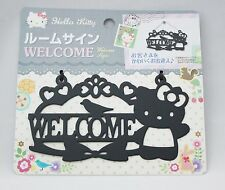 "New Hello Kitty Metal Room Sign ""WELCOME"" Sanrio Kawaii  Cutout Picture Design"
