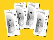 Bedlington Terrier Dog pack of 4, Small Slim Pocket Note Pads gift set