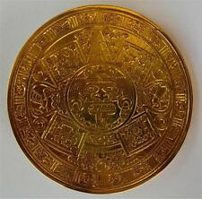 NEW AZTEC INDIAN GOLD ANTIQUE MEXICAN NATIVE MEXICO SILVER BELT BUCKLE