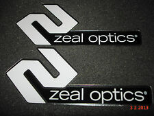 2 AUTHENTIC ZEAL OPTICS SUN GLASSES / GOOGLES STICKERS #8 / DECALS AUFKLEBER