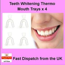 Teeth Whitening Mouth Trays for Bleaching, Thermo Gum Shield, Teeth Grinding x 4