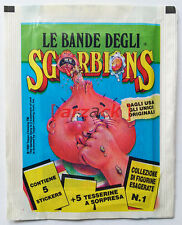 BUSTINA SGORBIONS Garbage Pail Kids Sgorbions GPK Italy TOPPS 1nd Stickers