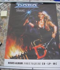 DORO/WARLOCK Force Majeure tour poster 33 x 23 1989