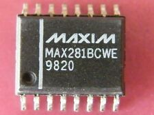 MAX281BCWE 5th Order Switched Capacitor Lowpass Filter, Maxim