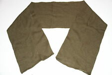 OLIVE GREEN  WOOL SCARF - U.S ARMY -  ARMY SURPLUS- NEW/UNISSUED