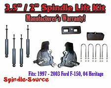 "1997 - 2003 Ford F-150 F150 2WD 3.5"" / 2""  Spindles blocks LIFT KIT + SHOCKS"