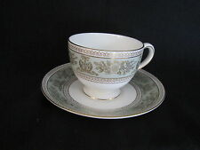 Wedgwood - Gold Columbia (Sage Green) - Cup & Saucer - BRAND NEW