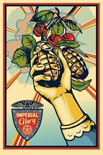 Shepard Fairey IMPERIAL GLORY 2013 print poster Obey Giant hand grenade bomb pow