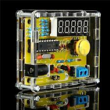 1Hz-50MHz Crystal Oscillator Frequency Tester Meter Counter Digital LED Kit Case