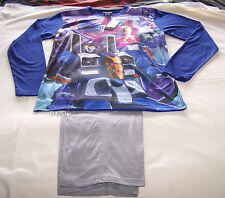 Transformers Mens Blue Grey Printed 2 Piece Pyjama Set Size L New