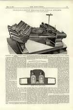 1891 Machinery For Light Draught Paddle Steamer Southampton Naval Works