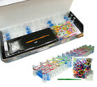 NEW COLOURFUL RAINBOW LOOM 600 RUBBER BANDS BRACELET MAKING KIT TWISTZ BANDZ DIY