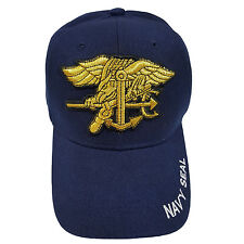 US Military Navy Seals Trident Blue Hat Cap