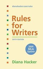 Rules for Writers with 2009 MLA Update, Diana Hacker, Good Book