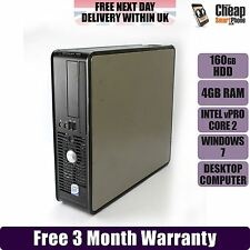 Dell Optiplex 755 SFF Dual Core 4GB RAM 160GB HDD Windows 7 Desktop PC Computer