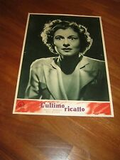 FOTOBUSTA,1951 L-ULTIMO RICATTO,Blackmail.E.G.Robinson  Potter.Noir Ruth Hussey,
