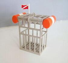 PLAYMOBIL (Z160) PLAGE - Cage Complète Protection Plongeurs Requins 4500