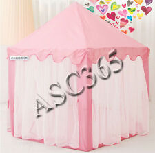 Girls Pink Princess Tent Castle Cute Playhouse Indoor outdoor Playing Tent