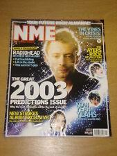 NME 2003 JAN 4 YEAH YEAH YEAHS RADIOHEAD VINES