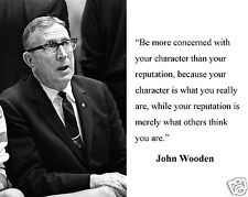 "John Wooden UCLA ""be more concerned"" Motivational Quote 8 x 10 Photo Picture"