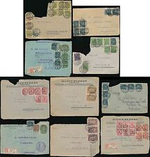 GERMANY 1922-23 INFLATION on PIECE ONLY...67 stamps on 12 ITEMS