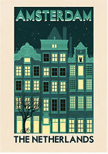 amsterdam holland vintage A1 SIZE PRINT FOR YOUR FRAME