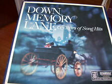 READER'S DIGEST-DOWN MEMORY LANE-65 YEARS OF SONG HITS-10 LP BOX SET-NM