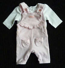 Baby clothes GIRL premature 6lbs/2.7kg George pink dungaree outfit COMBINE POST!