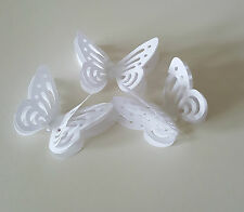 20 LAYERED  WHITE 3D BUTTERFLYS FOR TOPPERS/ WEDDING TABLE DECORATION CONFETTI
