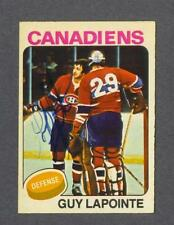 Guy Lapointe signed Montreal Canadiens 1975-76 Opee Chee hockey card