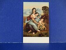 L. da Vinci La Vergine Il Bambino Gesu  e S.Anna Vintage Postcard Unused PC13