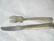 Vintage 1940 International Silver plated Dinner Knife Salad Fork Avon