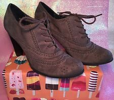 Women's Grey/Gray Shoes Fioni Ankle Boots Size 11 Lace Up Heels