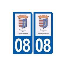 08 Vireux-Molhain logo ville autocollant plaque stickers arrondis