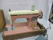 """RARE PINK Sewing Machine 50's Precision Heavy Duty """"Free Westinghouse"""" Brand"""