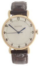 Vintage Jaeger LeCoulture Men's 18k Rose Gold 34mm Case Watch