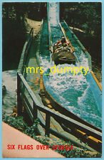 GA Six Flags Over Georgia ~ LOG JAMBOREE Flume Ride [B] ~ CHROME Postcard #11