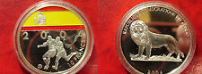 2004 Congo Large Color 10 Fr World Cup Soccer Germany - Spain