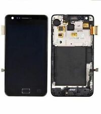DISPLAY LCD +TOUCH SCREEN per SAMSUNG GALAXY S2 GT i9100 +FRAME COVER NERO