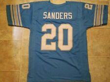 Detroit Lions Barry Sanders UNSIGNED CUSTOM Blue Jersey - Large