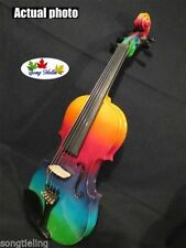 great Colorful electric violin & acoustic 5 strings violin 4/4