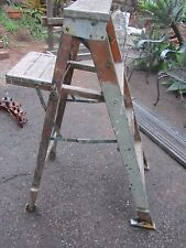 Vintage Wood Step Ladder Shelf Primitive Chic Country Old Paint Shabby Chippy