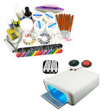 36W UV Lamp Gel Polish Curing Dryer Light Acrylic Nail Art Kit Set Powder Glue