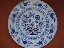 "Great Antique Classic D&G. Meakin Blue Nordic England Plate 10"" across"