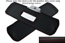RED STITCHING FITS SMART FORTWO 450 98-07 2X SUN VISORS LEATHER SKIN COVERS ONLY