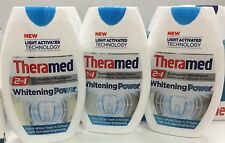 3x Theramed 2 In 1 Whitening Toothpaste + Mouthwash 75ml Whiter Teeth