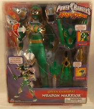 "Power Rangers Ninja Storm 12"" Weapon Warrior Talking Green Samurai Ranger (MOC)"