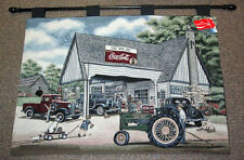 Coca-Cola & John Deere Tapestry Wall Hanging ~ Fillin' Up On Memories