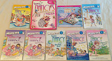 LOT OF 9 FANCY NANCY I CAN READ BOOKS Beginning Reader 1, Sticker Book for Girls